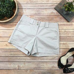 NWT Size 4 WHBM Stretch Gray Short Dress Shorts